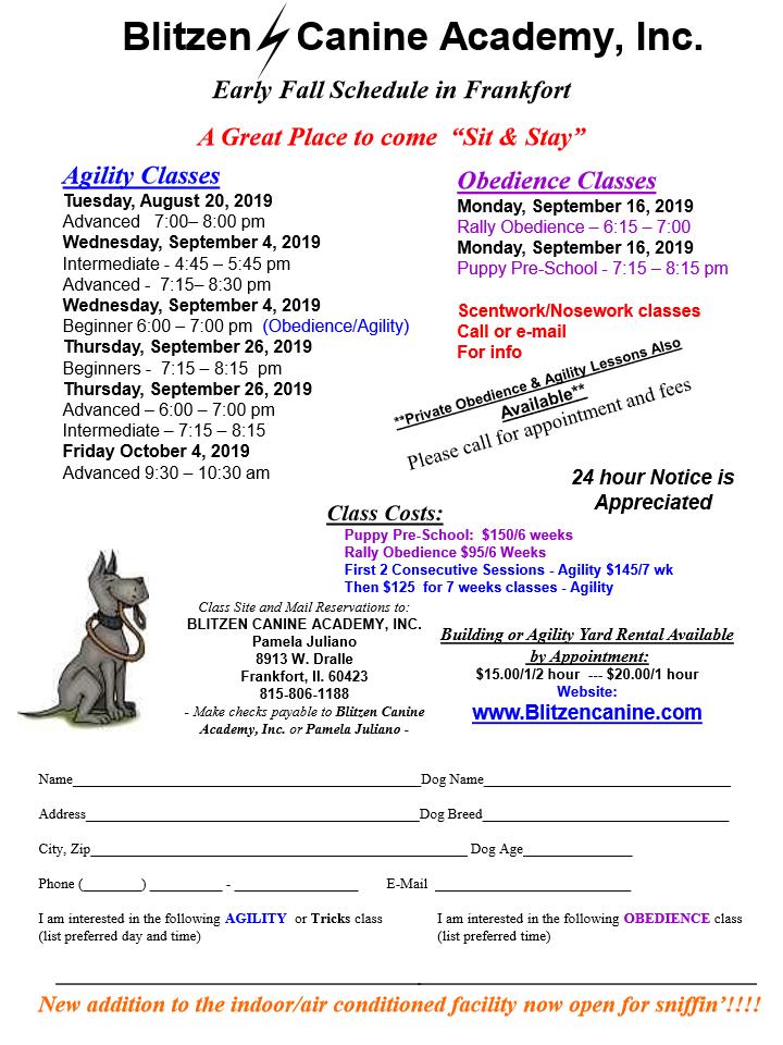 Class Schedule 081119